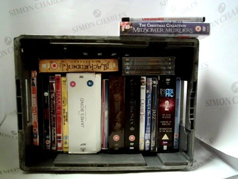 Lot 8131 LOT OF APPRIOXIMATELY 18 ASSORTED DVD'S TO INCLUDE; G.O.T, DR WHO, JAMES BOND ETC