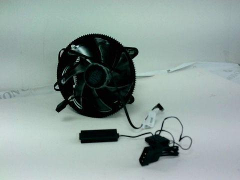 Lot 4164 COOLER MASTER I71C RGB INTEL ONLY CPU AIR COOLER W/ANODIZED BLACK ALUMINUM FINS, COPPER INSERT, MF120 RGB FAN, INTEL LGA1151