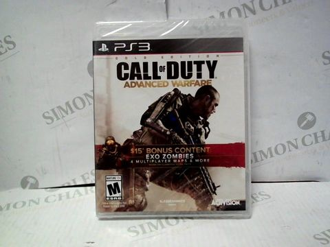 Lot 7335 BRAND NEW AND SEALED PLAYSTATION 3 CALL OF DUTY ADVANCE WARFARE