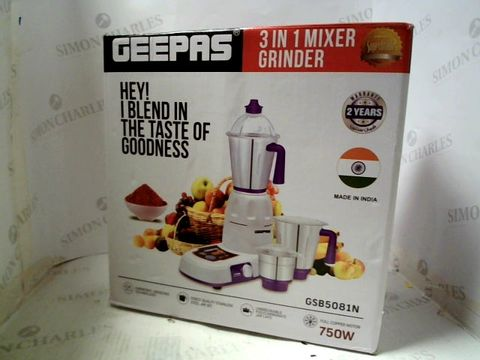 Lot 4042 GEEPAS 3 IN 1 MIXER GRINDER GSB5081N