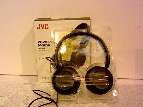Lot 1255 JVC POWERFUL SOUND STEREO HEADPHONES