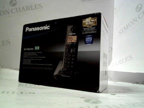 Lot 8247 PANASONIC KX-TG 2721 TELEPHONE ANSWERING SYSTEM