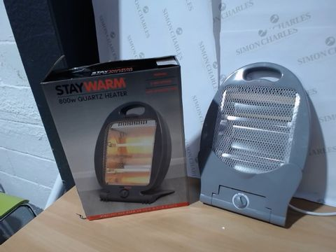 Lot 2592 BOXED STAYWARM 800W QUARTZ HEATER