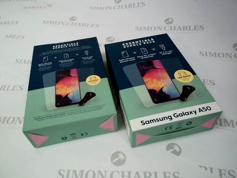Lot 2643 BOX OF 22 BRAND NEW BOXED ESSENTIAL BUNDLE PACKS FOR SAMSUNG GALAXY A50