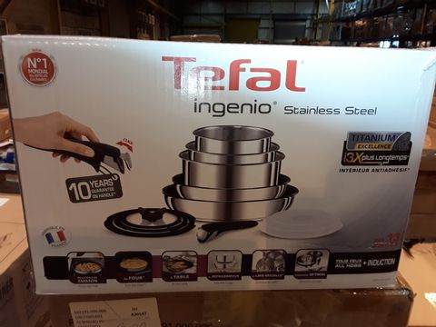 Lot 8283 TEFAL INGENIO STAINLESS STEEL COOKWARE SET