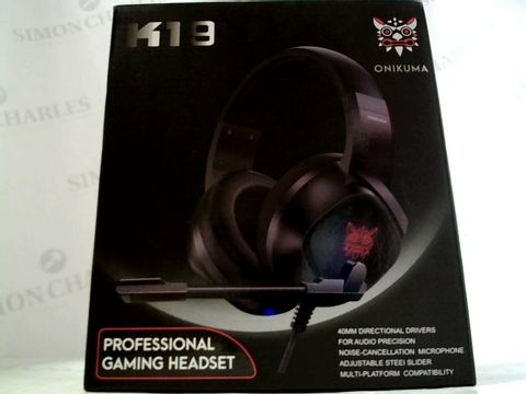 Lot 6264 ONIKUMA K19 PROFESSIONAL GAMING HEADSET