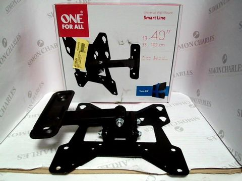 Lot 7433 ONE FOR ALL SMART LINE UNIVERSAL WALL MOUNT FOR TVS 13-40 INCH