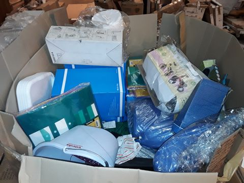 Lot 10304 LARGE PALLET OF ASSORTED ITEMS TO INCLUDE: STATIONERY, PORTABLE HEATERS, TENT, BACKPACKS