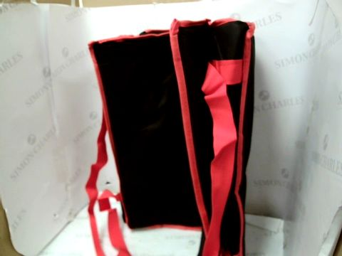 Lot 10012 INSULATED PIZZA DELIVERY BAG - RED AND BLACK