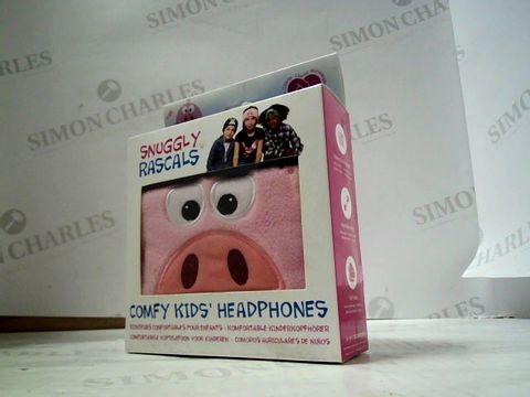 Lot 4214 BRAND NEW SNUGGLY RASCALS COMFY KIDS HEADPHONES - PIG