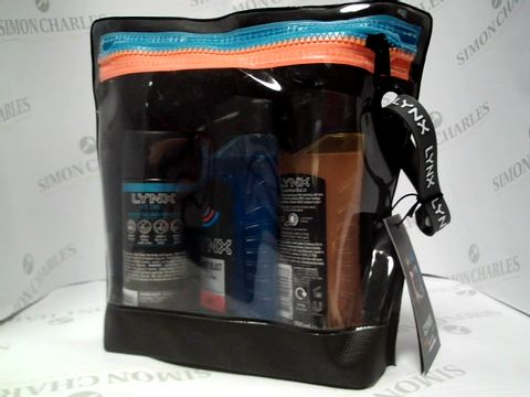Lot 8128 LYNX WASHBAG - ENERGISED, ICE CHILL AND SPORTS BLAST