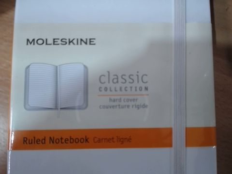 Lot 2050 LOT OF 9 MOLESKINE CLASSIC COLLECTION HARD COVER RULED NOTEBOOKS