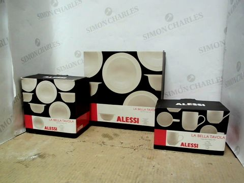 Lot 1 LOT OF 3 ASSORTED ALESSI LA BELLE TEVOLA ITEMS TO INCLUDE BOWLS, SERVING BOWL AND MUGS