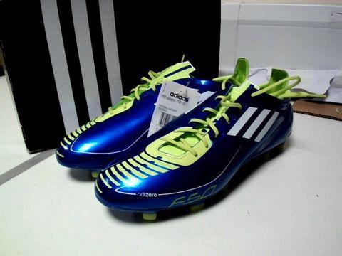 Lot 13309 ADIDAS F50 ADIZERO FOOTBALL BOOTS UK SIZE 9