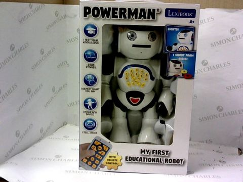 Lot 5444 LEXIBOOK POWER-MAN ROBOT RRP £62.99