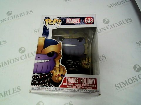 Lot 199 THANOS (HOLIDAY) POP FIGURE