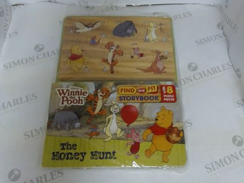 Lot 1449 WINNIE THE POOH FIND AND FIT STORY BOOK AND PUZZLE