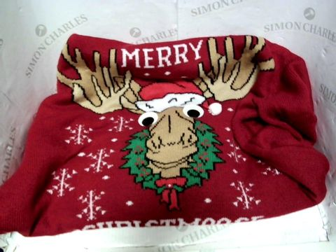 Lot 13000 H&M MERRY CHRISTMOOSE CHRISTMAS JUMPER SIZE M