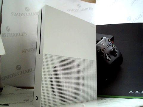 Lot 8296 MICROSOFT XBOX ONE S 500GB GAMES CONSOLE