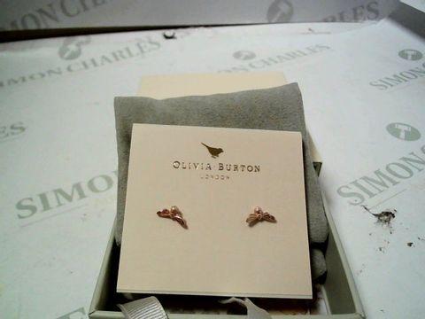 Lot 4173 OLIVIA BURTON ROSE GOLD LUCKY BEE EARRINGS  RRP £40.00