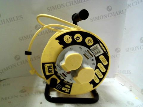 Lot 598 25M 110V CABLE REEL
