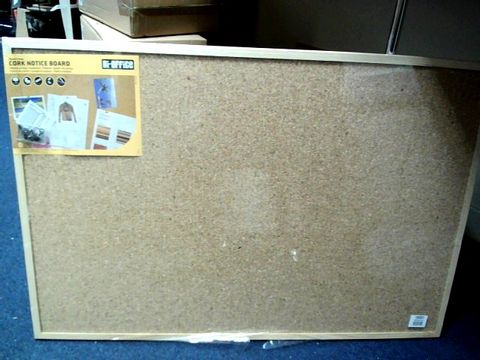 Lot 4036 wood framed cork notice board
