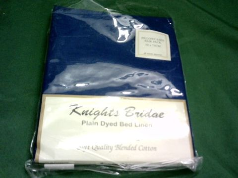 Lot 1052 KNIGHTS BRIDGE PLAIN DYED BED LINEN - PILLOWCASE PAIR APPROX. 50X75CM