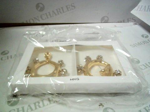 Lot 4193 MANGO DIAMANTE CIRCLE EARRINGS RRP £27.00
