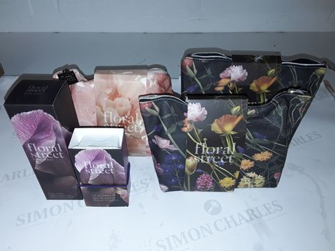 Lot 8450 LOT OF 3 FLORAL STREET BEAUTY BAGS INCLUDES BODY CREAM AND EAU DE PARFUM