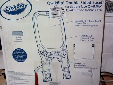 Lot 427 CRAYOLA QWIKFLIP DOUBLE SIDED EASEL  RRP £49.99