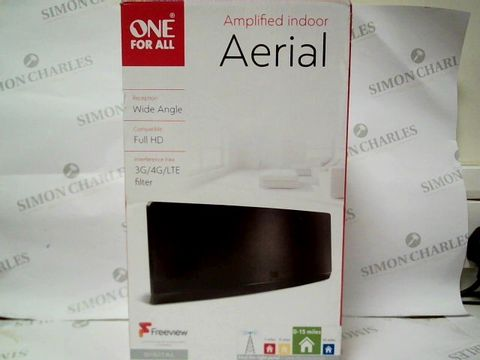Lot 1066 One For All Amplified Curved Indoor Aerial