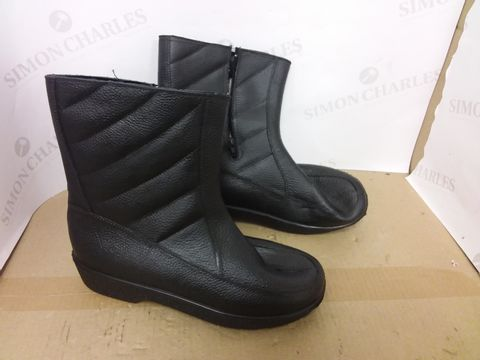 Lot 461 BOX OF A SIGNIFICANT QUANTITY OF ASSORTED DESIGNER FOOTWEAR ITEMS TO INCLUDE VOI JEANS BLUE/NAVY TRAINERS SIZE 7, DESIGNER BLACK BOOTS SIZE 43, KIDS MARVEL AVENGERS WELLIES ETC