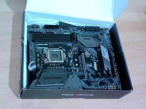 Lot 4515 MSI MAG Z390 TOMAHAWK MOTHERBOARD ATX, LGA1151, DDR4, DUAL LAN, USB 3.1 GEN2, TYPE-C, M.2, RGB MYSTIC LIGHT, HDMI, DISPLAY PORT, INTEL 8TH AND 9TH GEN