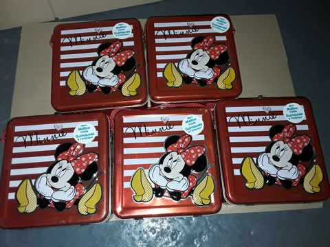 Lot 9155 LOT OF 5 MINNIE MOUSE TINS