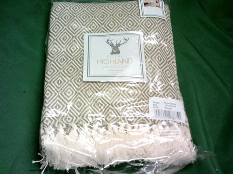 Lot 1056 ROYAL HIGHLAND COLLECTION NATURAL THROW 127X152CM