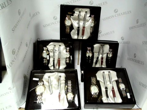 Lot 17595 A BOX OF 5 MY WISH COLLEZION WATCHES WITH PENS