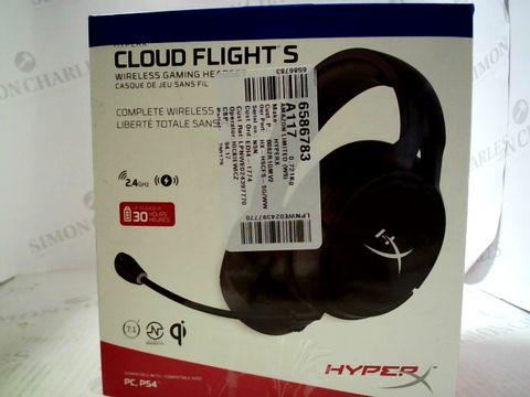 Lot 9015 HYPERX HX-HSCFS-SG/WW CLOUD FLIGHT S WIRELESS GAMING HEADSET
