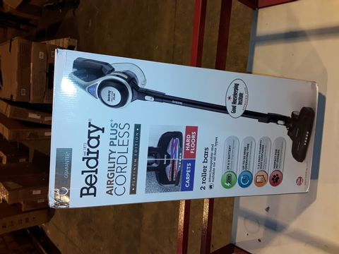 Lot 3240 BELDRAY AIRGILITY + CORDLESS VACUUM CLEANER