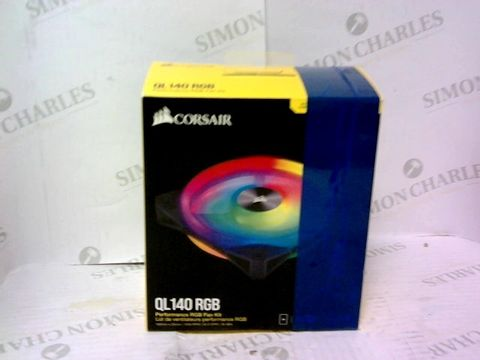 Lot 975 CORSAIR ICUE QL140 RGB, 140 MM RGB LED PWM FANS