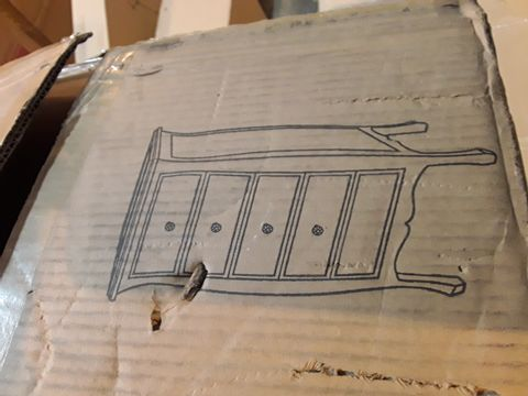 Lot 7133 BOXED FRENCH STYLE 5 DRAWER TALLBOY MIRRORED