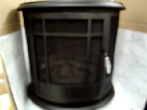 Lot 79 DAEWOO 1900W ELECTRIC FIRE FLAME EFFECT CURVED STOVE