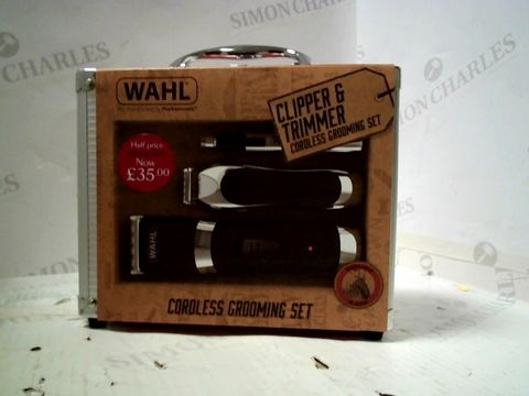 Lot 242 WAHL CLIPPER & TRIMMER CORDLESSS GROOMING SET