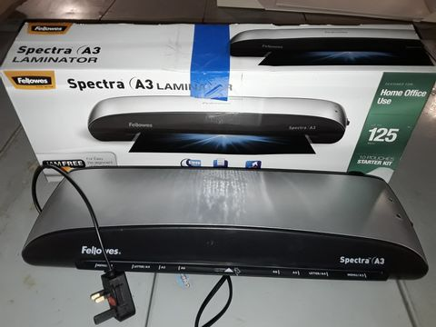 Lot 5003 FELLOWES SPECTRA A3 LAMINATOR