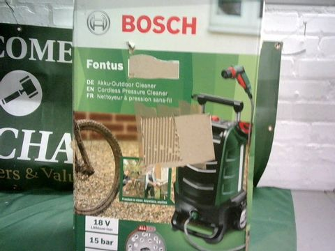 Lot 9066 BOSCH FONTUS CORDLESS OUTDOOR PRESSURE WASHER CLEANER