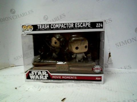 Lot 108 FUNKO POP FIGURES STAR WARS LUKE + LEIA TRASH COMPACTOR SCENE