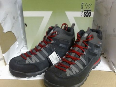 Lot 13023 KARRIMOR SPIKE MID 3 WEATHERTITE MULTI-SPORT BOOTS BLACK/RED - UK SIZE 12