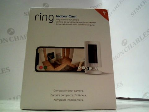 Lot 7594 RING INDOOR CAM - PLUG IN SECURITY CAMERA
