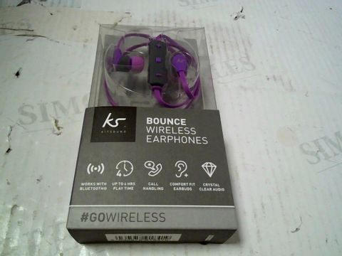 Lot 316 KITSOUND BOUNCE WIRELESS EARPHONES