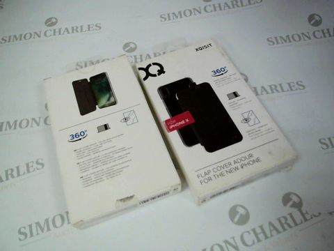 Lot 2649 BOX OF 16 BRAND NEW BOXED XQISIT FLAP COVERS FOR IPHONE X