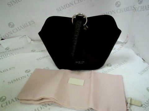 Lot 8334 DESIGNER RADLEY BLACK CLUTCH BAG WITH DUST BAG